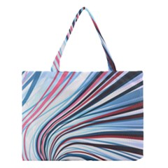 Wavy Stripes Background Medium Tote Bag