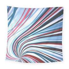 Wavy Stripes Background Square Tapestry (large)