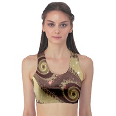 Space Fractal Abstraction Digital Computer Graphic Sports Bra
