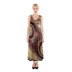 Space Fractal Abstraction Digital Computer Graphic Sleeveless Maxi Dress