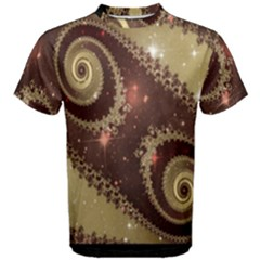 Space Fractal Abstraction Digital Computer Graphic Men s Cotton Tee