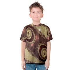 Space Fractal Abstraction Digital Computer Graphic Kids  Cotton Tee