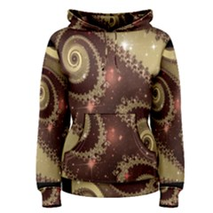 Space Fractal Abstraction Digital Computer Graphic Women s Pullover Hoodie