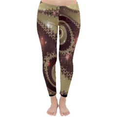 Space Fractal Abstraction Digital Computer Graphic Classic Winter Leggings
