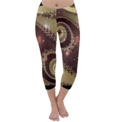 Space Fractal Abstraction Digital Computer Graphic Capri Winter Leggings