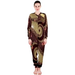 Space Fractal Abstraction Digital Computer Graphic OnePiece Jumpsuit (Ladies)