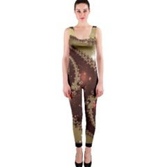Space Fractal Abstraction Digital Computer Graphic Onepiece Catsuit