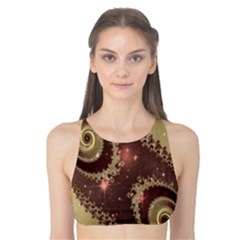 Space Fractal Abstraction Digital Computer Graphic Tank Bikini Top