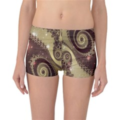 Space Fractal Abstraction Digital Computer Graphic Reversible Bikini Bottoms