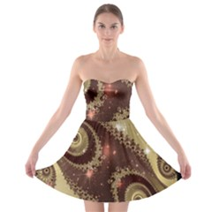 Space Fractal Abstraction Digital Computer Graphic Strapless Bra Top Dress