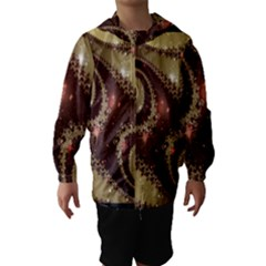 Space Fractal Abstraction Digital Computer Graphic Hooded Wind Breaker (kids)