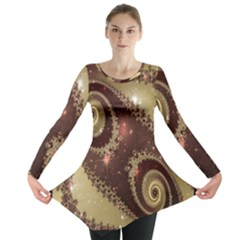 Space Fractal Abstraction Digital Computer Graphic Long Sleeve Tunic