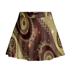 Space Fractal Abstraction Digital Computer Graphic Mini Flare Skirt