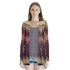 Space Fractal Abstraction Digital Computer Graphic Cardigans