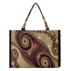 Space Fractal Abstraction Digital Computer Graphic Medium Tote Bag