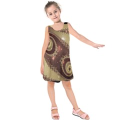 Space Fractal Abstraction Digital Computer Graphic Kids  Sleeveless Dress