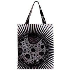 Fractal Background Black Manga Rays Zipper Classic Tote Bag