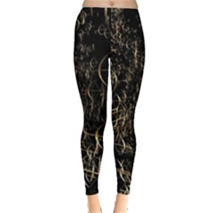 Golden Bows And Arrows On Black Leggings