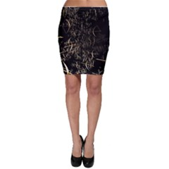 Golden Bows And Arrows On Black Bodycon Skirt