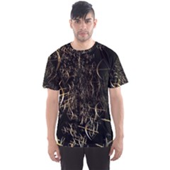 Golden Bows And Arrows On Black Men s Sport Mesh Tee