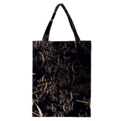 Golden Bows And Arrows On Black Classic Tote Bag