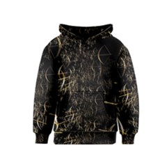 Golden Bows And Arrows On Black Kids  Pullover Hoodie