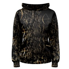 Golden Bows And Arrows On Black Women s Pullover Hoodie