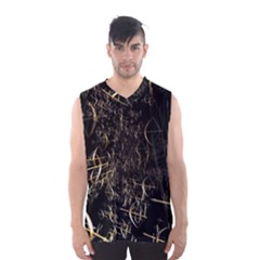 Golden Bows And Arrows On Black Men s Basketball Tank Top