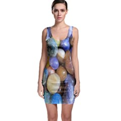 Rock Tumbler Used To Polish A Collection Of Small Colorful Pebbles Sleeveless Bodycon Dress
