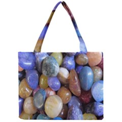 Rock Tumbler Used To Polish A Collection Of Small Colorful Pebbles Mini Tote Bag
