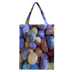 Rock Tumbler Used To Polish A Collection Of Small Colorful Pebbles Classic Tote Bag