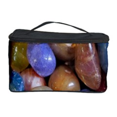 Rock Tumbler Used To Polish A Collection Of Small Colorful Pebbles Cosmetic Storage Case