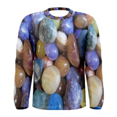 Rock Tumbler Used To Polish A Collection Of Small Colorful Pebbles Men s Long Sleeve Tee