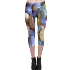 Rock Tumbler Used To Polish A Collection Of Small Colorful Pebbles Capri Leggings