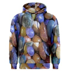 Rock Tumbler Used To Polish A Collection Of Small Colorful Pebbles Men s Pullover Hoodie