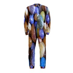 Rock Tumbler Used To Polish A Collection Of Small Colorful Pebbles OnePiece Jumpsuit (Kids)