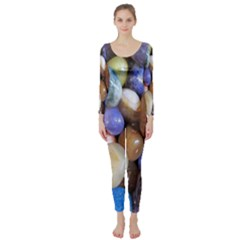 Rock Tumbler Used To Polish A Collection Of Small Colorful Pebbles Long Sleeve Catsuit