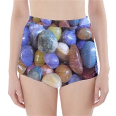 Rock Tumbler Used To Polish A Collection Of Small Colorful Pebbles High Waisted Bikini Bottoms