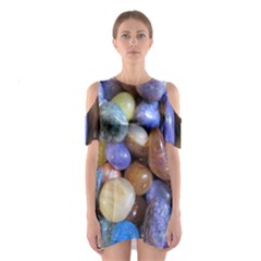 Rock Tumbler Used To Polish A Collection Of Small Colorful Pebbles Shoulder Cutout One Piece