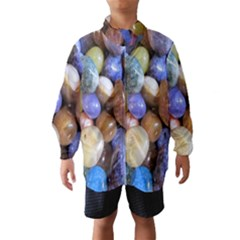 Rock Tumbler Used To Polish A Collection Of Small Colorful Pebbles Wind Breaker (kids)