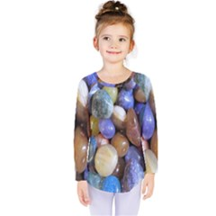 Rock Tumbler Used To Polish A Collection Of Small Colorful Pebbles Kids  Long Sleeve Tee