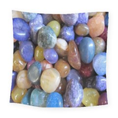 Rock Tumbler Used To Polish A Collection Of Small Colorful Pebbles Square Tapestry (large)