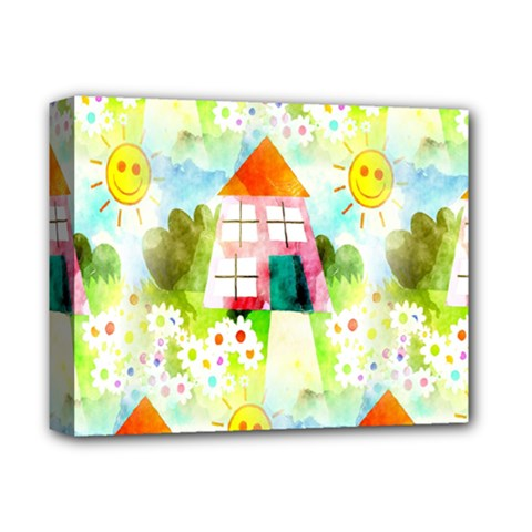 Summer House And Garden A Completely Seamless Tile Able Background Deluxe Canvas 14  x 11