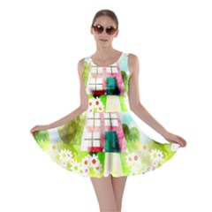 Summer House And Garden A Completely Seamless Tile Able Background Skater Dress