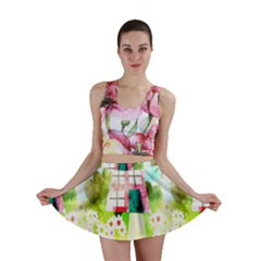 Summer House And Garden A Completely Seamless Tile Able Background Mini Skirt