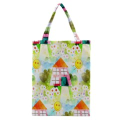 Summer House And Garden A Completely Seamless Tile Able Background Classic Tote Bag