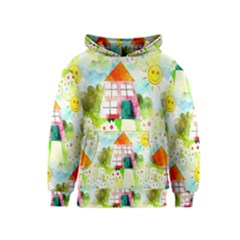 Summer House And Garden A Completely Seamless Tile Able Background Kids  Pullover Hoodie