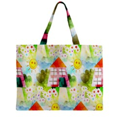 Summer House And Garden A Completely Seamless Tile Able Background Zipper Mini Tote Bag