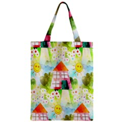 Summer House And Garden A Completely Seamless Tile Able Background Zipper Classic Tote Bag