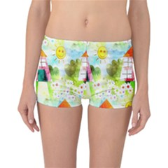 Summer House And Garden A Completely Seamless Tile Able Background Reversible Bikini Bottoms